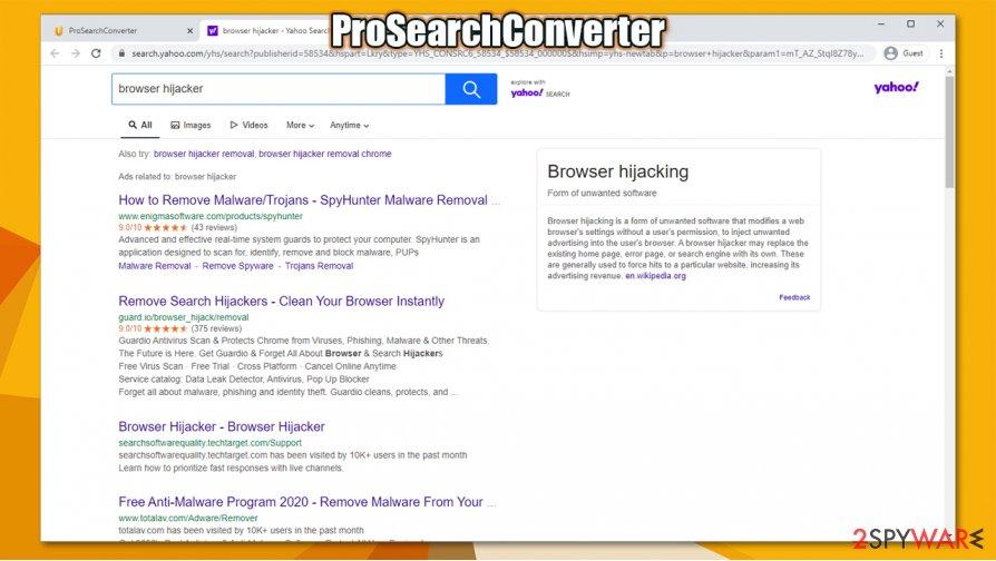 ProSearchConverter virus