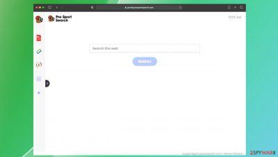 ProSportSearch browser hijacker