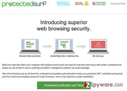 Protected Surf adware snapshot