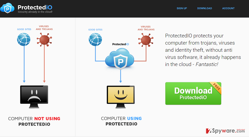 Search.protectedio.com virus
