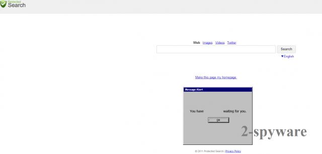 ProtectedSearch.com virus snapshot