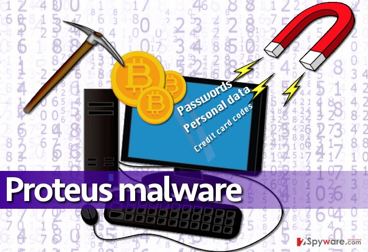 Proteus malware initiates various malicious activities on compromised PCs