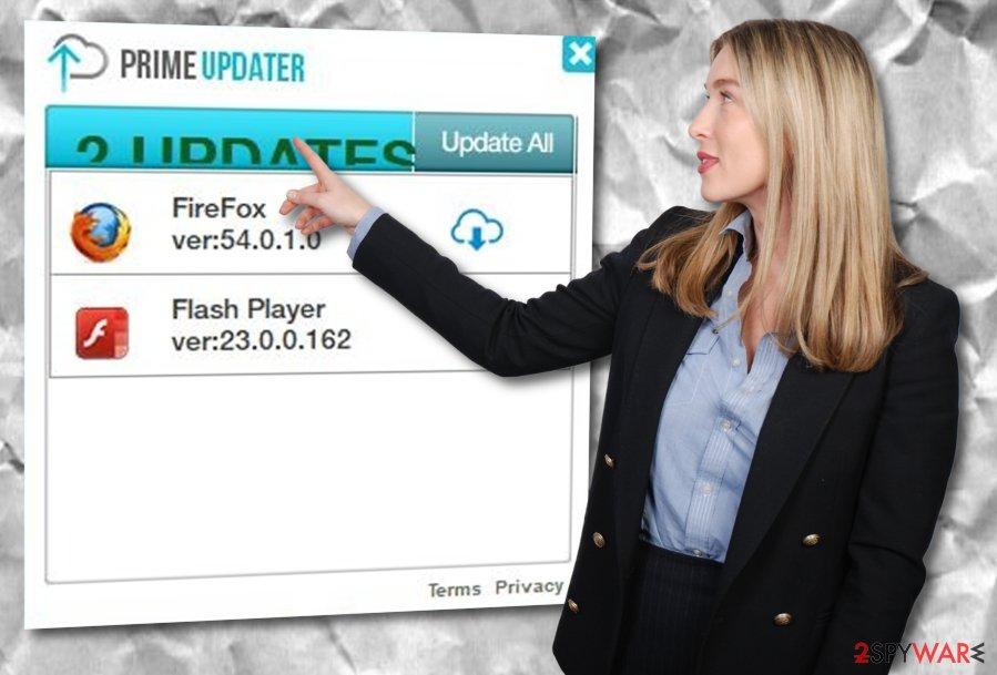 Prupdater adware