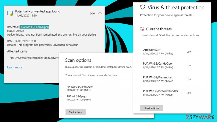 PUA:Win32/CandyOpen detection