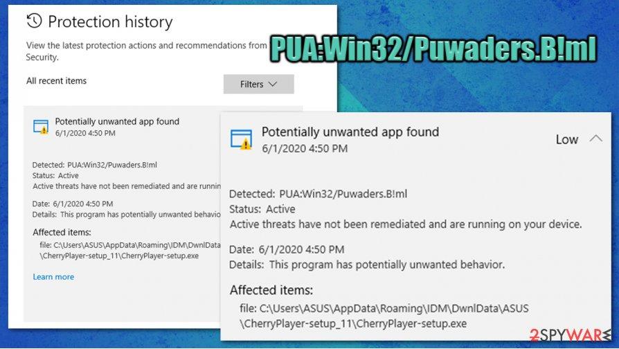 PUA:Win32/Puwaders.B!ml