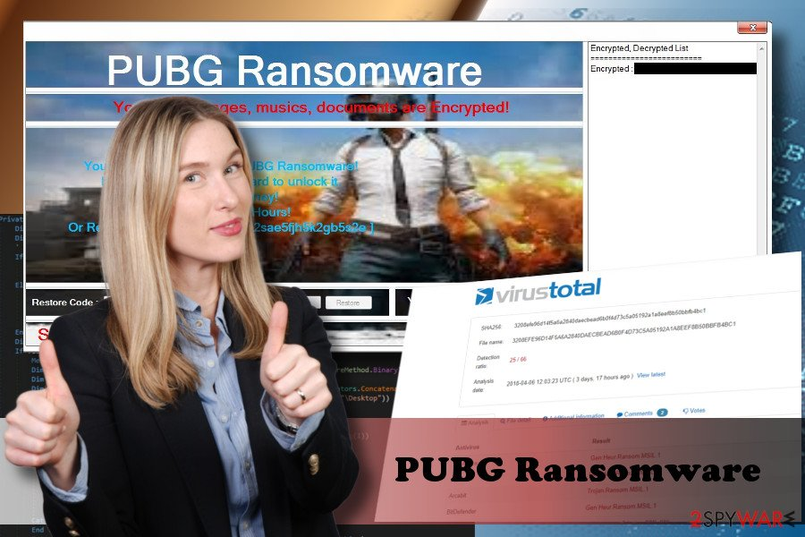 PUBG virus is decryptable