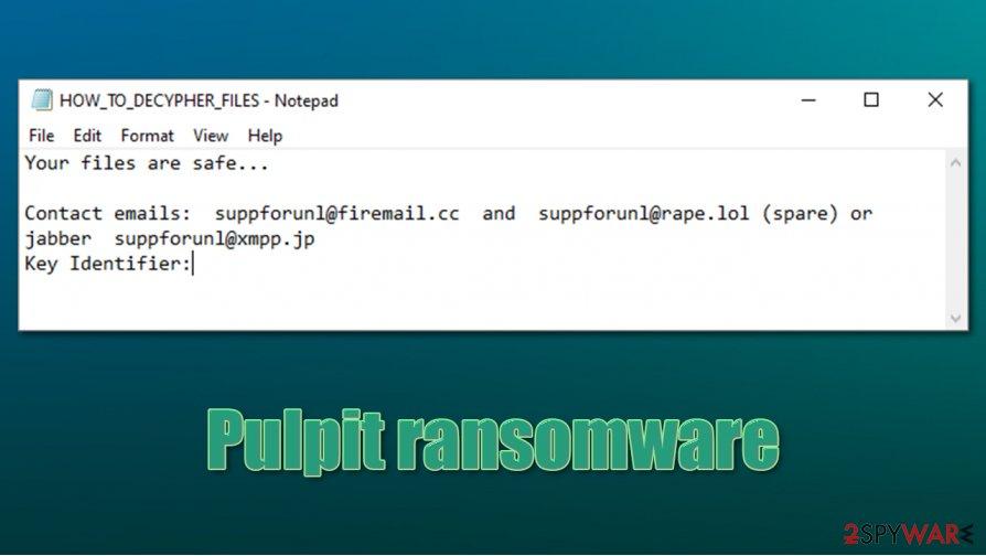 Pulpit ransomware