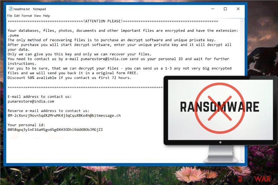 PUMA ransomware