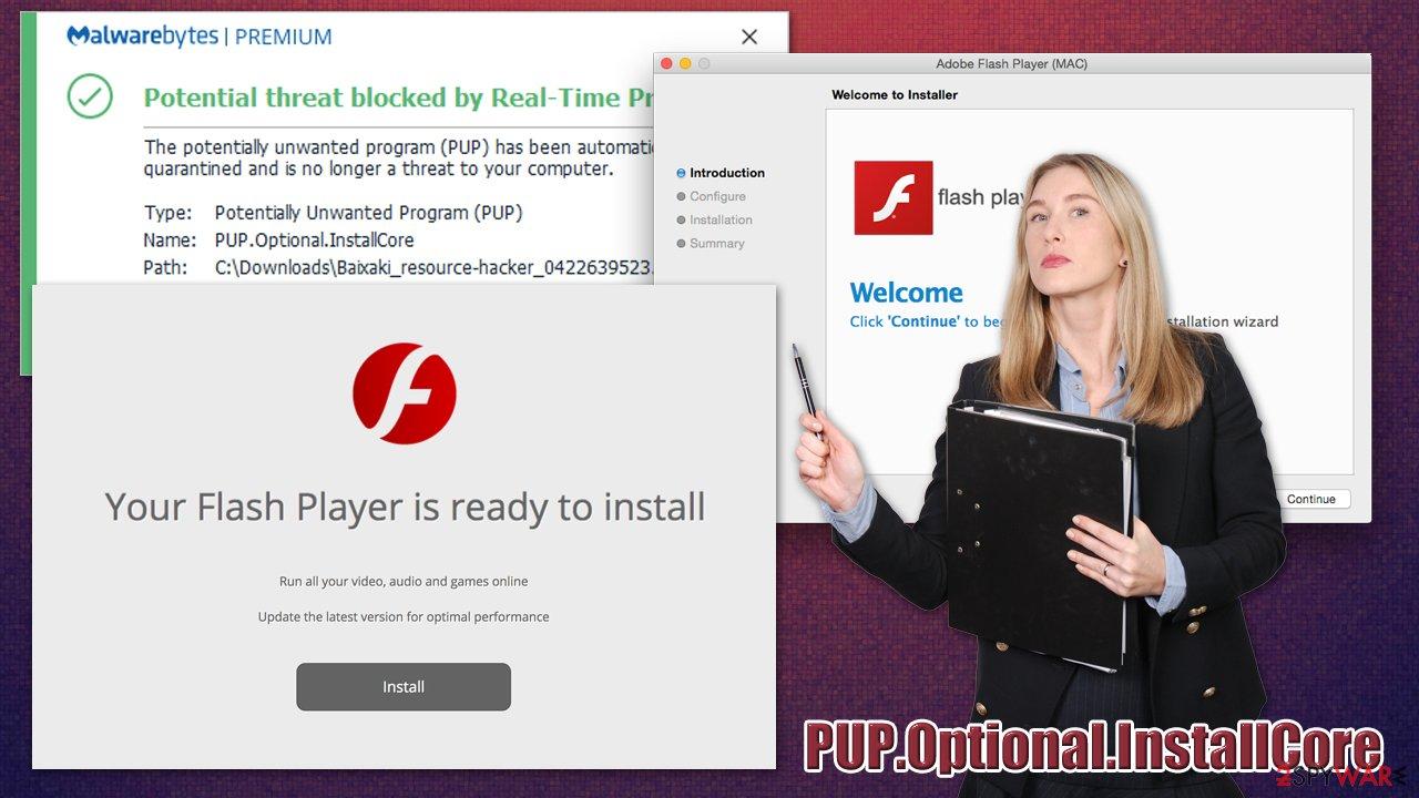 PUP.Optional.InstallCore virus