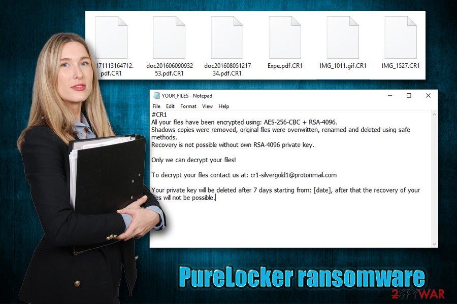 PureLocker ransomware virus