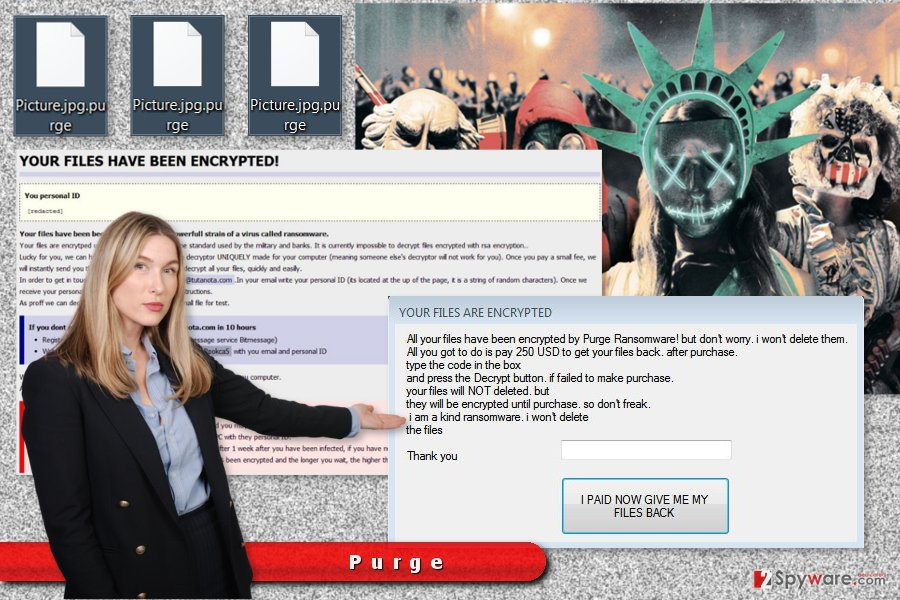 The picture of the Purge ransomware