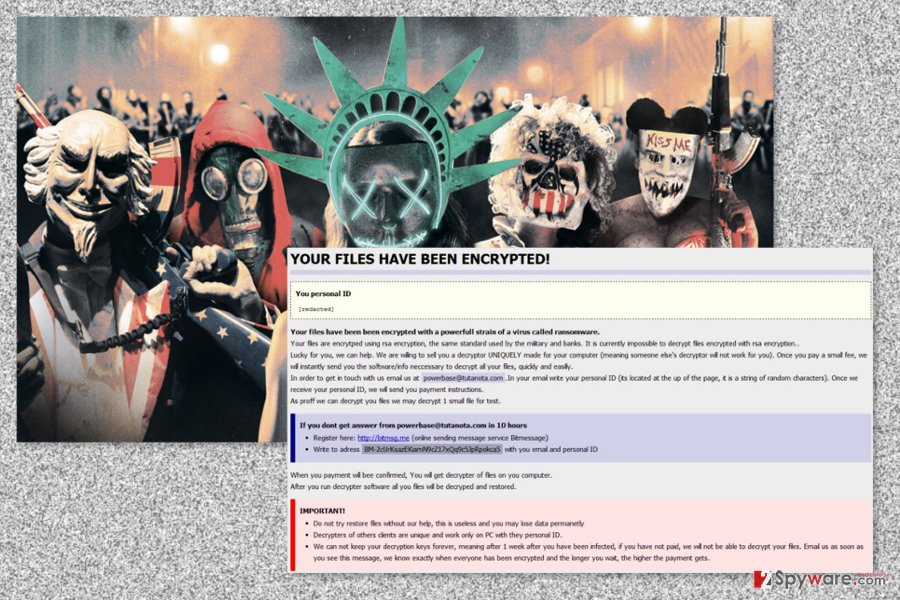 An image of the Purge ransomware