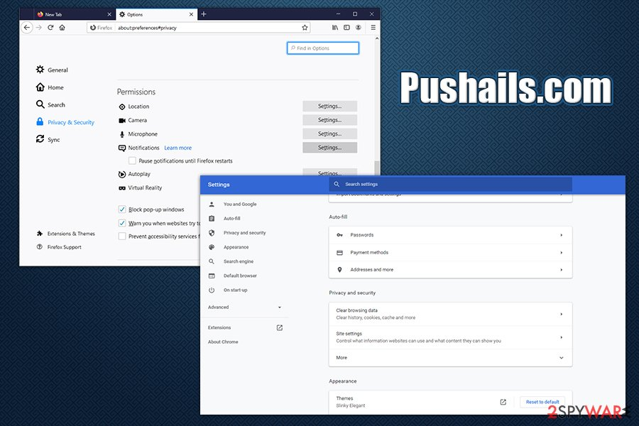 Pushails.com notifications