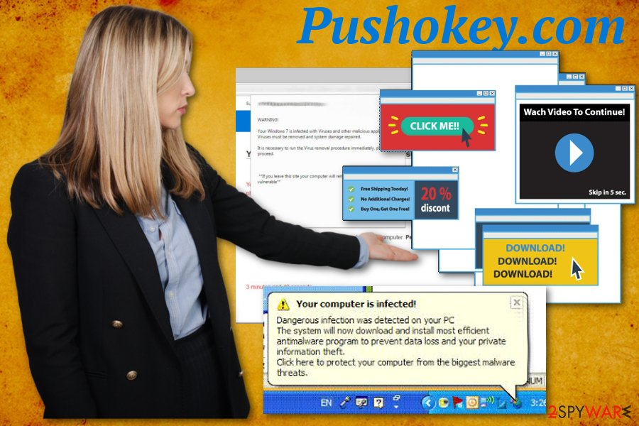 Pushokey.com virus