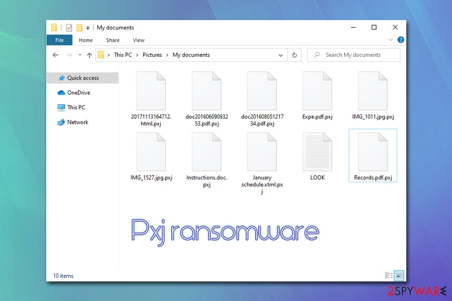 Pxj ransomware encrypted files