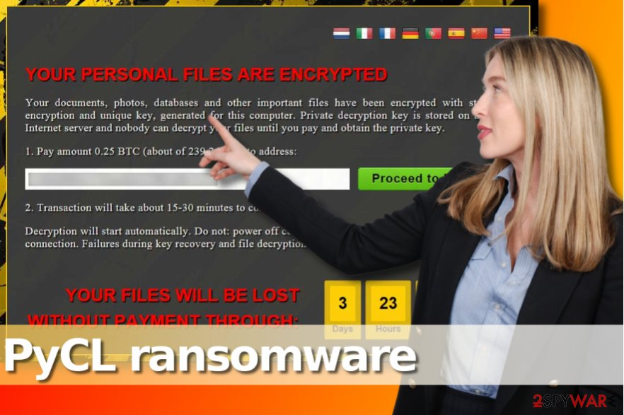 PyCL ransomware virus