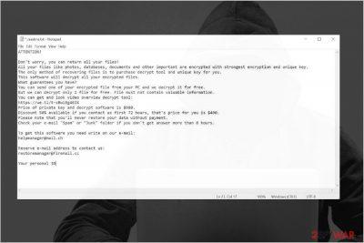 Pykw ransomware