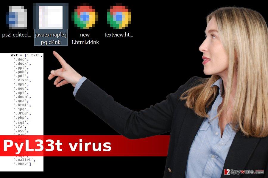 PyL33T ransomware virus