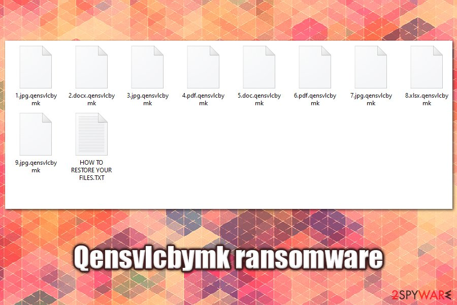 Qensvlcbymk ransomware encrypted files
