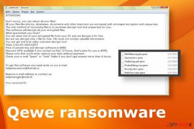 Qewe ransomware virus