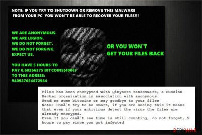 Qinynore ransomware image
