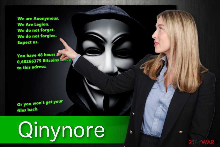 Qinynore ransomware illustration