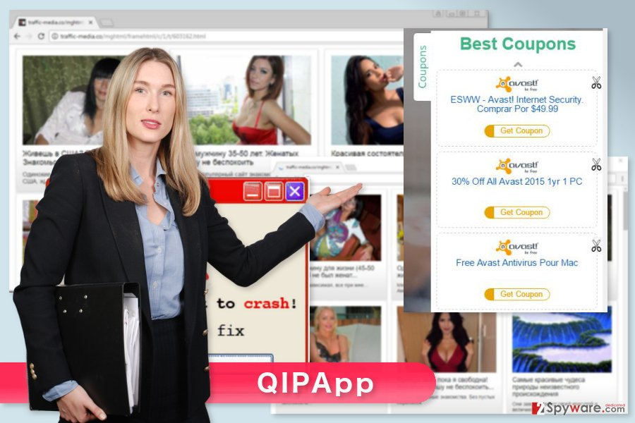 The example of QIPApp ads