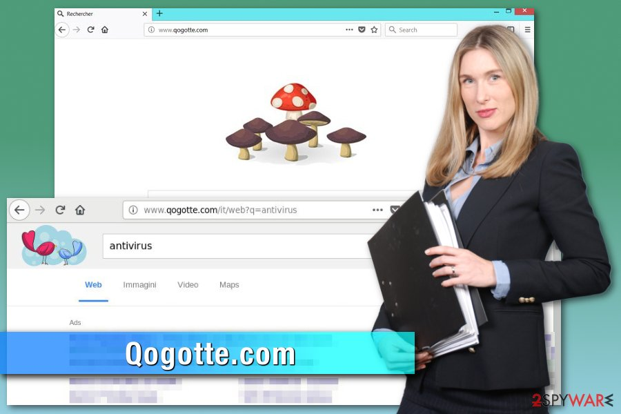 Qogotte.com browser hijacker
