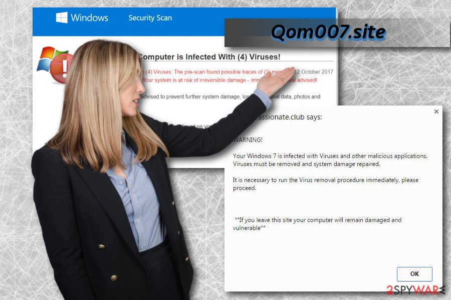 Qom007.site virus and its alerts