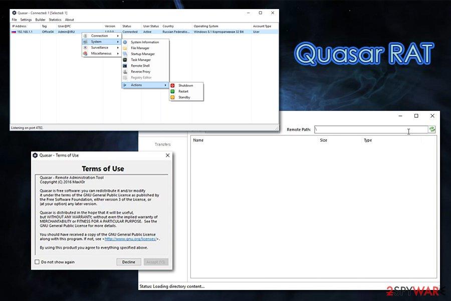 Quasar keylogger