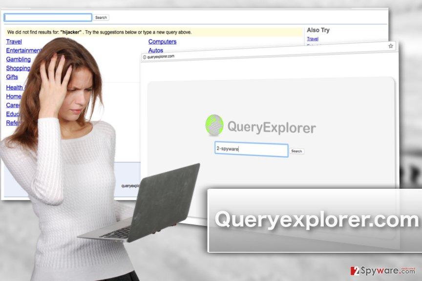 An illustration of queryexplorer.com virus