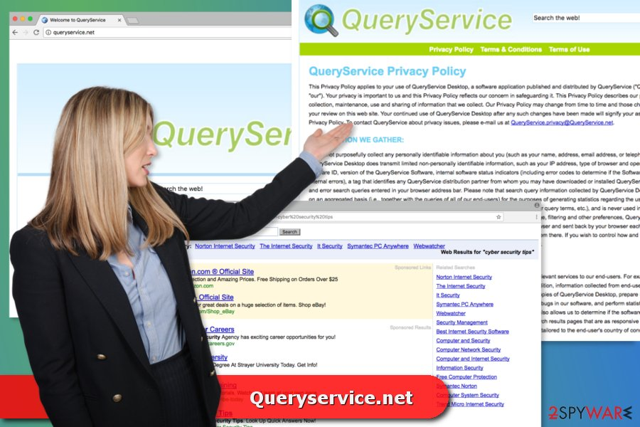The image of Queryservice.net virus