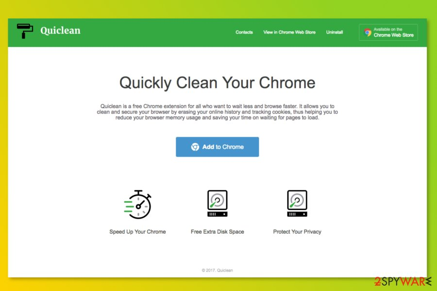 Quiclean official website