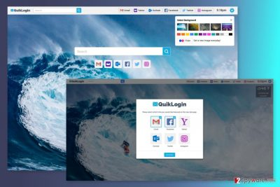 The image of Quiklogin New Tab