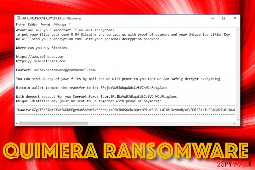 Quimera ransomware virus