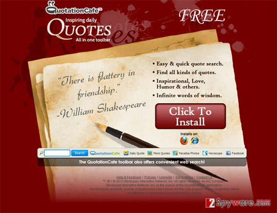 QuotationCafe toolbar