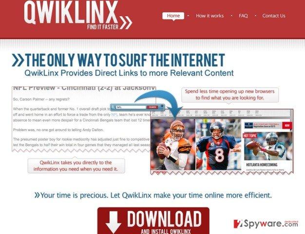 QwikLinx pop-up snapshot