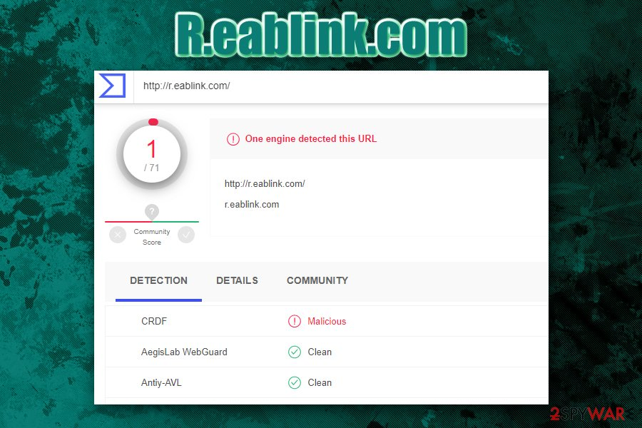 R.eablink.com detection