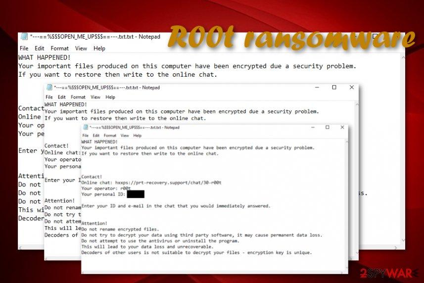 R00t ransomware virus