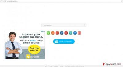 The screenshot of radiotabsearch.com virus