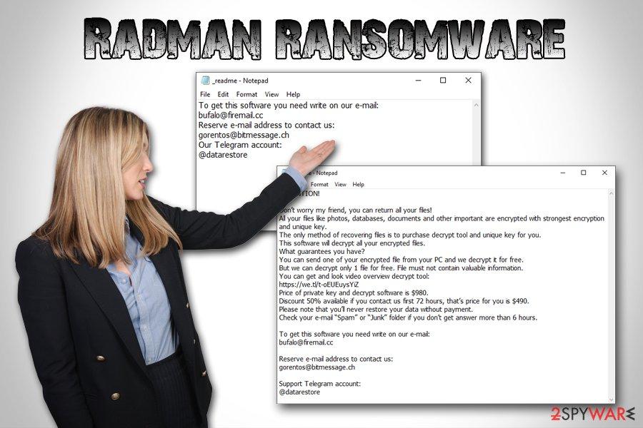 Radman ransomware virus