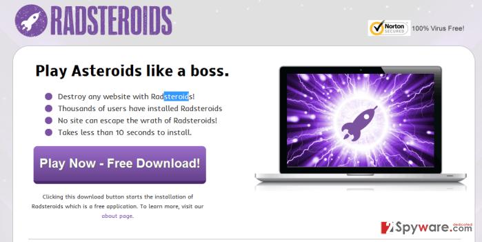 RadSteroids ads snapshot