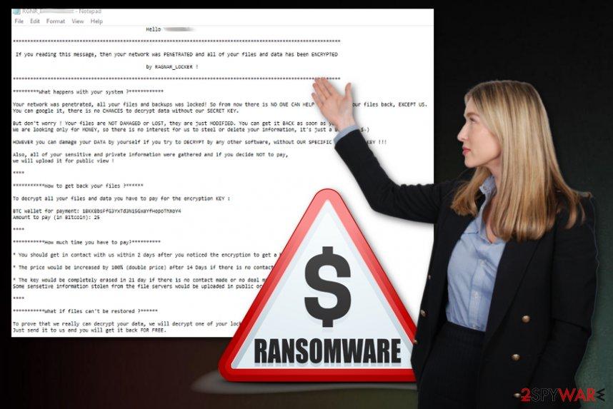 RagnarLocker ransomware virus