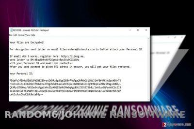 The example of Random6 ransomware