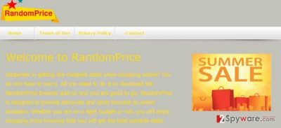 The picture showing RandomPrice virus
