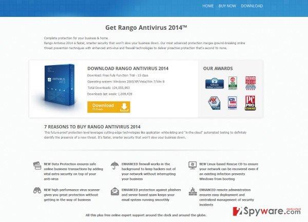 Rango Win 8 Antivirus 2014 snapshot