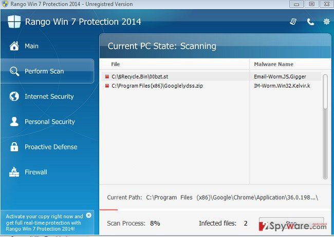 Rango XP Protection 2014 snapshot