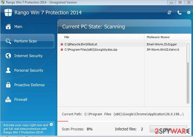 Rango Win 7 Protection 2014 snapshot
