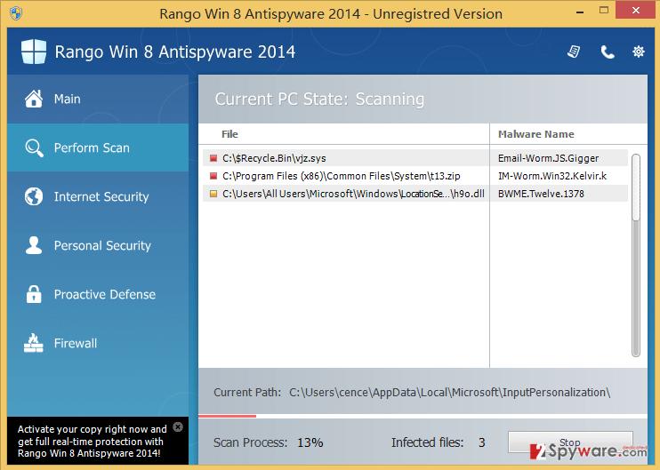 Rango Win 8 Antispyware 2014 snapshot