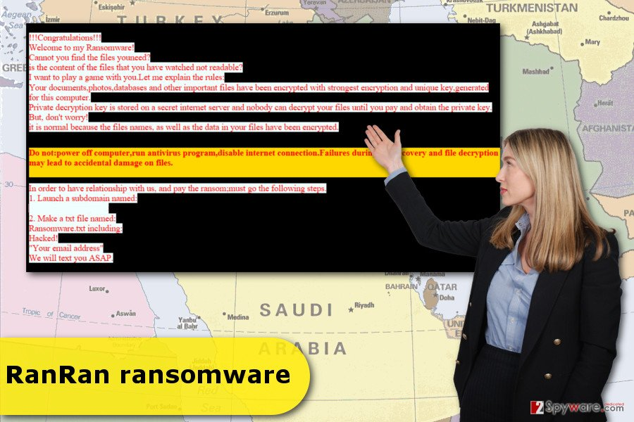 The illustration of RanRan ransomware virus